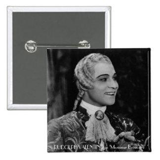 Rudolph Valentino 15 Cm Square Badge