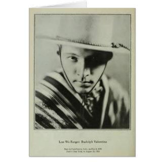 Rudolph Valentino 1929 vintage portrait card