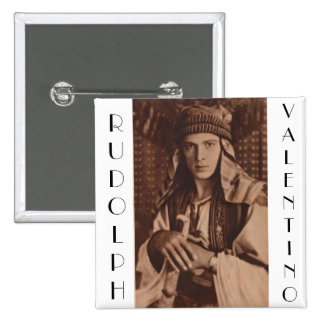 Rudolph Valentino as The Sheik 15 Cm Square Badge
