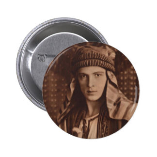 Rudolph Valentino as The Sheik 6 Cm Round Badge