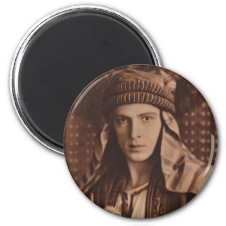 Rudolph Valentino as The Sheik 6 Cm Round Magnet