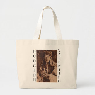 Rudolph Valentino as The Sheik Large Tote Bag