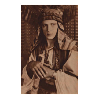 Rudolph Valentino as 'The Sheik' Poster