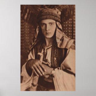Rudolph Valentino as 'The Sheik' Print