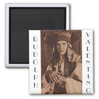 Rudolph Valentino as The Sheik Square Magnet