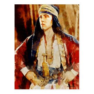 Rudolph Valentino as the Sheikh Art Postcard