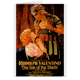 Rudolph Valentino Card