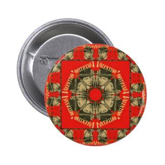 Rudolph Valentino Design 2 6 Cm Round Badge