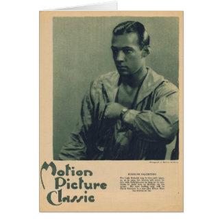 Rudolph Valentino portrait Greeting Card