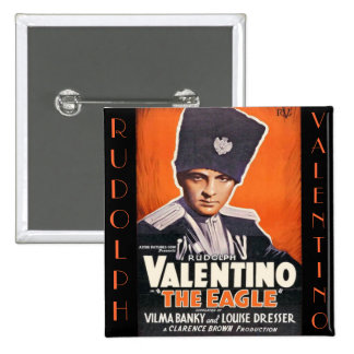 Rudolph Valentino Poster Pinback Buttons