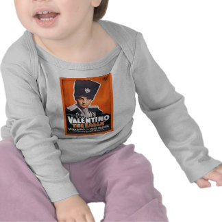 Rudolph Valentino Poster Tee Shirts