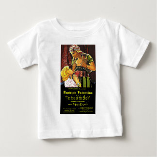 Rudolph Valentino 'Son of Sheik' Poster Baby T-Shirt