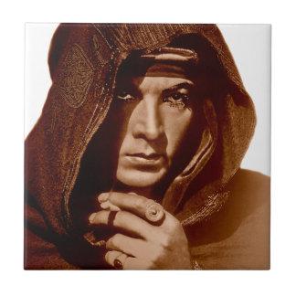 Rudolph Valentino: The Sheik Small Square Tile