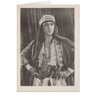 Rudolph Valentino vintage production photo Greeting Card