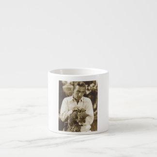Rudolph Valentino w/ leopard portrait Espresso Mug