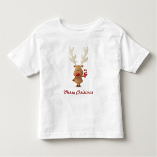 Rudolph with Candy Cane Holiday Tee Shirt