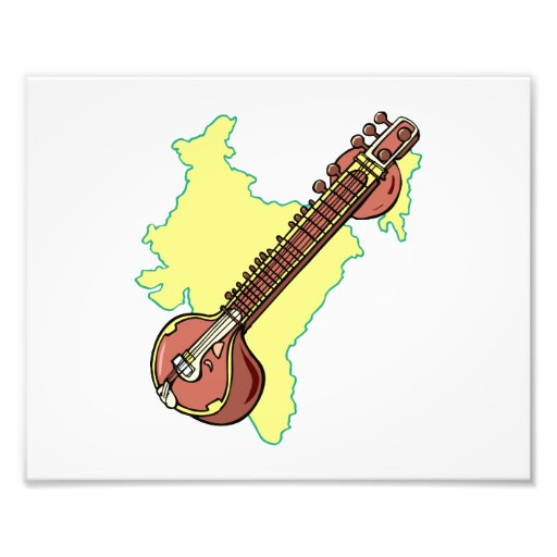 Rudra Vina India Stringed Instrument Photographic Print
