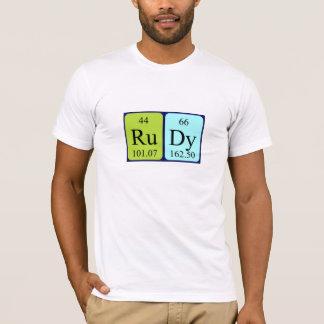 Rudy periodic table name shirt