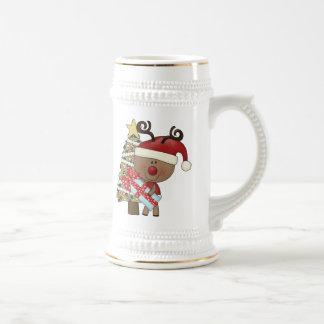 Rudy Reindeer Holiday Tree Coffee Mugs