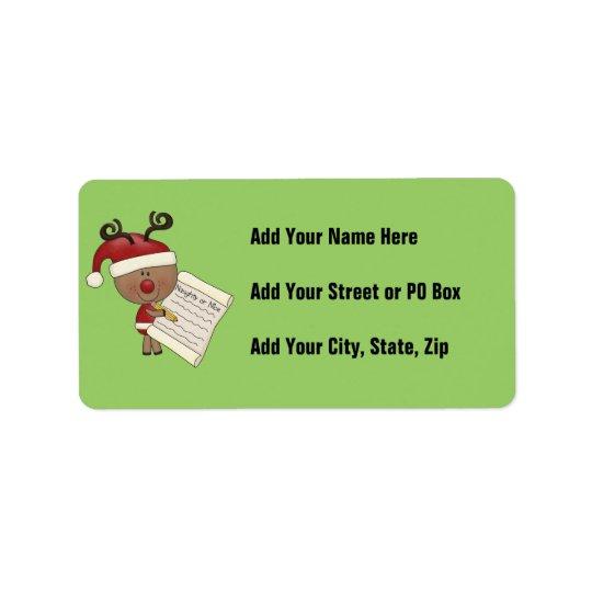 Rudy Reindeer Naughty or Nic Label