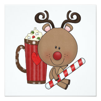 Rudy Reindeer With Cocoa Card