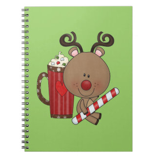 Rudy Reindeer With Cocoa Notebooks