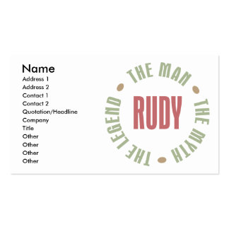 Rudy the Man the Myth the Legend Pack Of Standard Business Cards