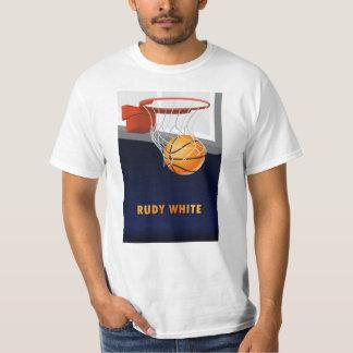 Rudy White Basketball T-Shirt
