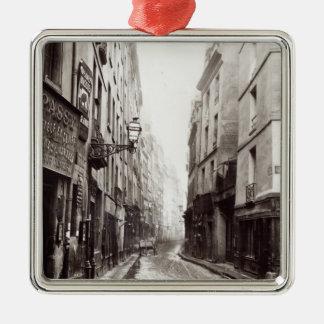 Rue Aumaire, from the Rue Volta, Paris, 1858-78 Christmas Ornament