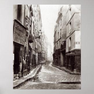 Rue Aumaire, from the Rue Volta, Paris, 1858-78 Poster