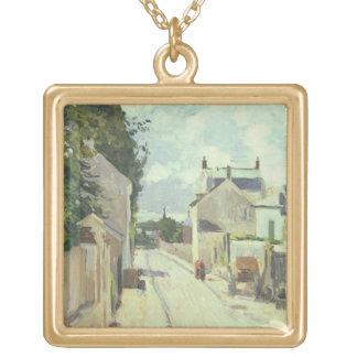 Rue de l'Ermitage, Pontoise, 1874 (oil on canvas) Pendants