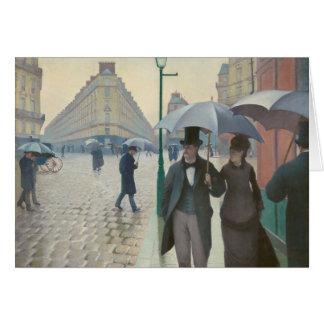 Rue de Paris Temps de Pluie by Gustave Caillebotte Card