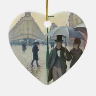 Rue de Paris Temps de Pluie by Gustave Caillebotte Christmas Ornament