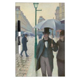Rue de Paris Temps de Pluie by Gustave Caillebotte Dry-Erase Board