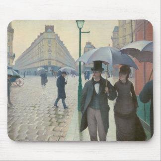 Rue de Paris Temps de Pluie by Gustave Caillebotte Mousepads