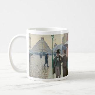 Rue de Paris Temps de Pluie by Gustave Caillebotte Coffee Mugs