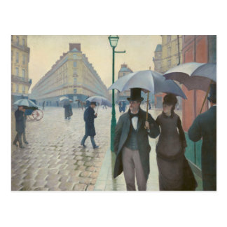 Rue de Paris Temps de Pluie by Gustave Caillebotte Postcard