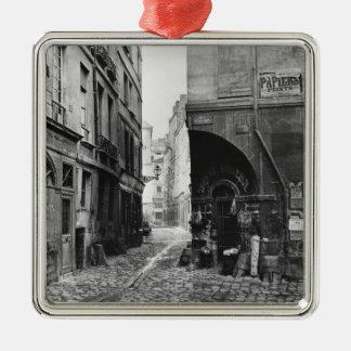 Rue des Marmousets, from rue Saint-Landry, Paris Silver-Colored Square Decoration