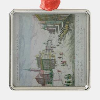 Rue des Recolets, Quebec Silver-Colored Square Decoration