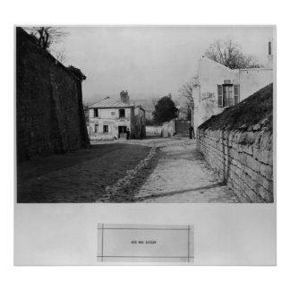 Rue des Saules, Paris, 1858-78 Poster