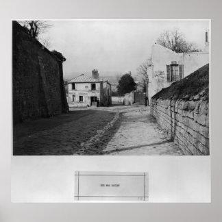 Rue des Saules Paris 1858-78 Print