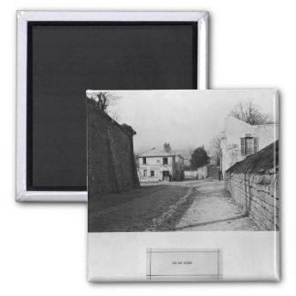 Rue des Saules, Paris, 1858-78 Square Magnet