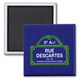 Rue Descartes, Paris Street Sign Magnet