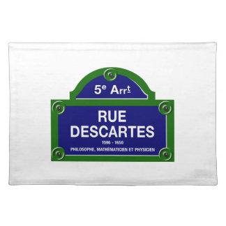 Rue Descartes, Paris Street Sign Placemat