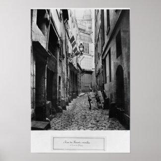 Rue du Haut Moulin, from rue de Glatigny, Paris Poster