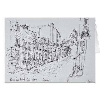 Rue du Petit Champlain, Quebec, Canada Card