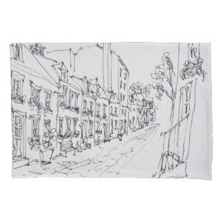 Rue du Petit Champlain, Quebec, Canada Pillowcase