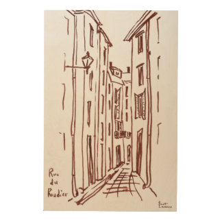 Rue du Rondier | Grasse, France Wood Wall Decor