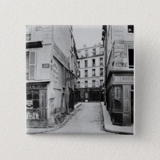 Rue Maitre Albert  Paris, 1858-78 15 Cm Square Badge
