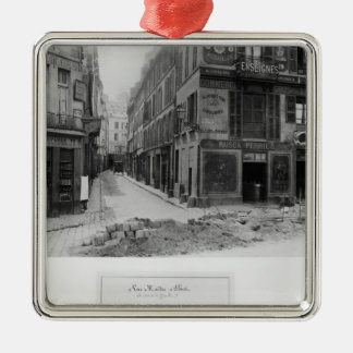 Rue Maitre Albert  Paris, 1858-78 Christmas Ornament
